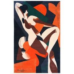 """René Magritte, Large Pile Carpet """"Femme"""""""