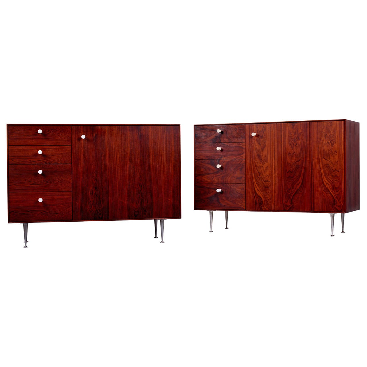 George Nelson & Associates Thin Edge Cabinets in Rosewood, 1952