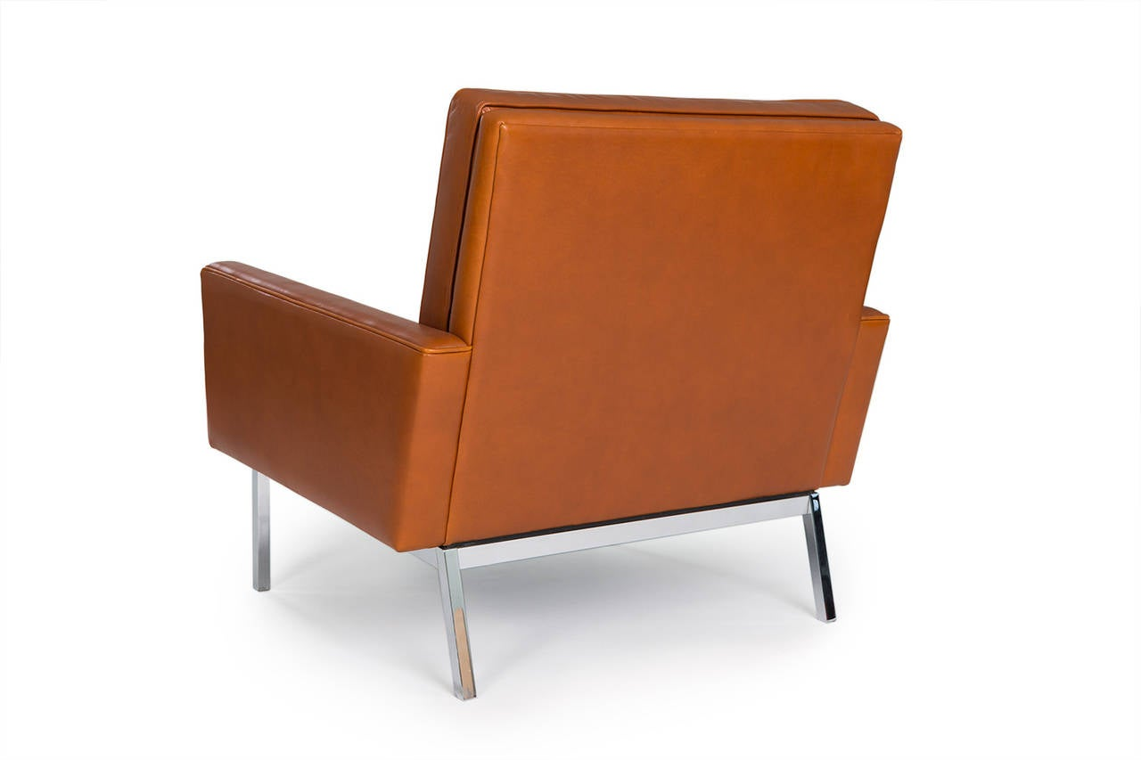 Florence Knoll Chairs, Set of Four Model 65A, 1960s In Excellent Condition For Sale In Houston, TX