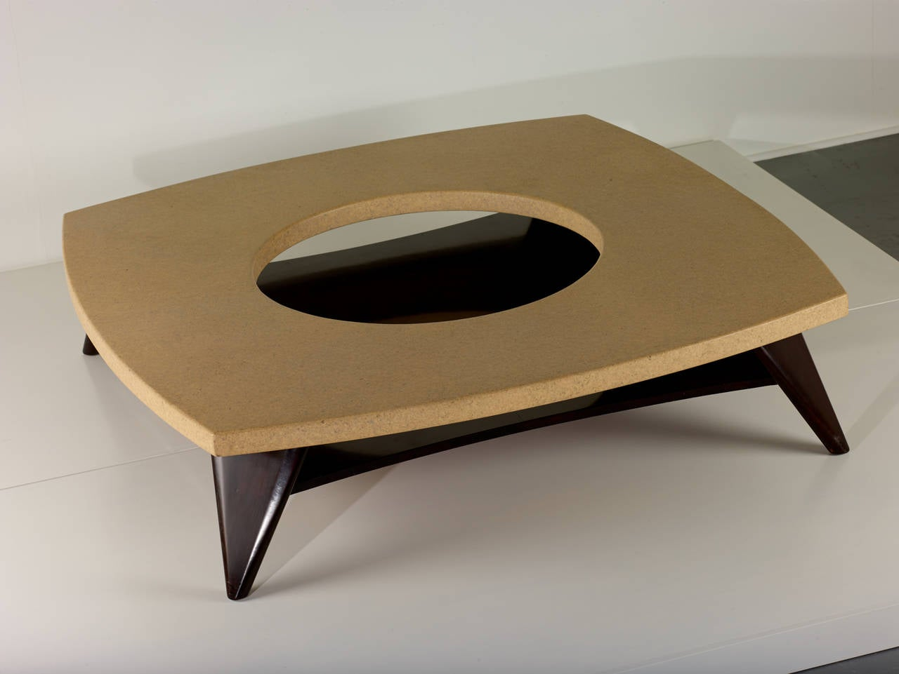 Lacquered Paul Frankl Cork Coffee Table, 1951 For Sale