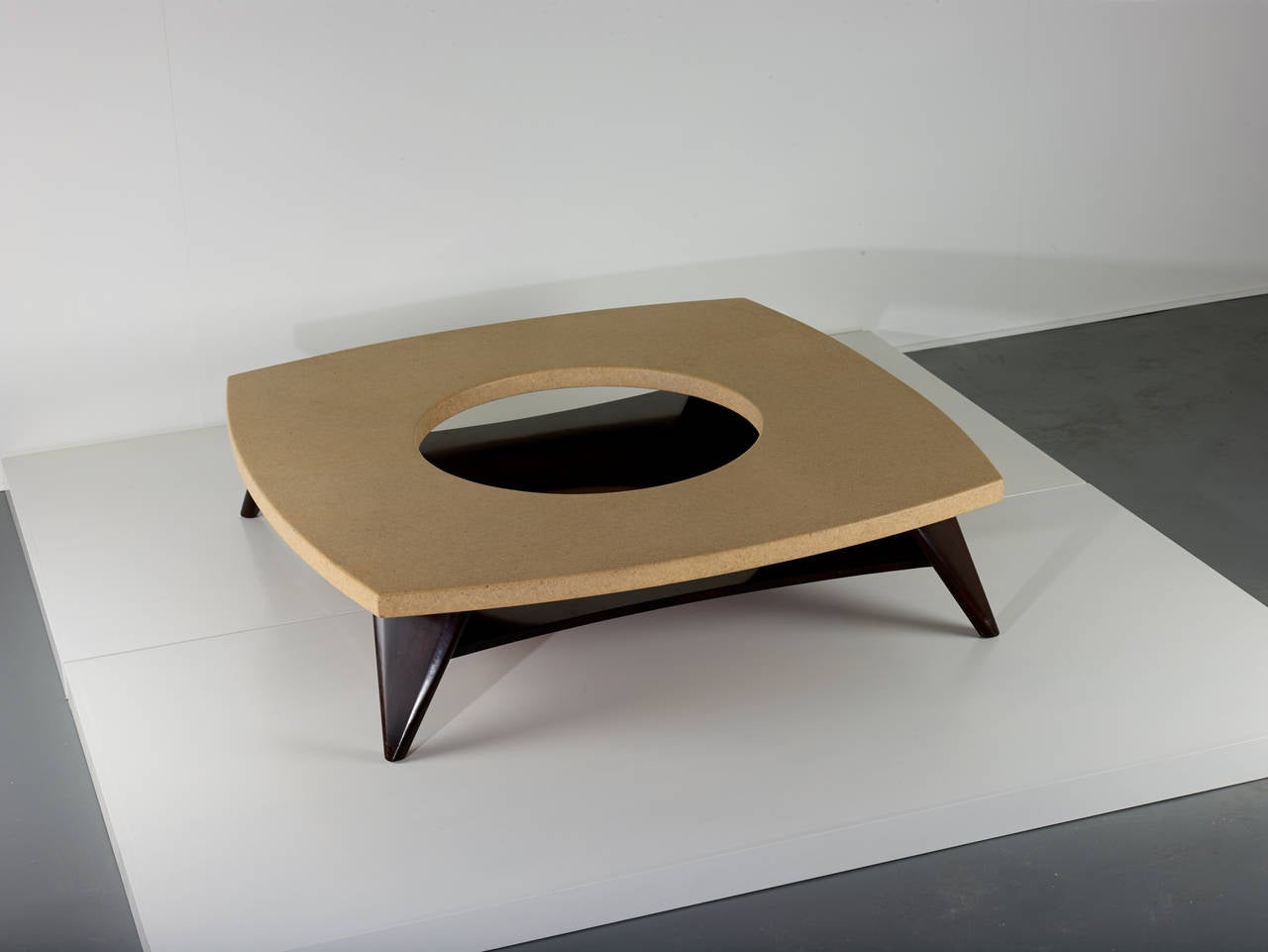 American Paul Frankl Cork Coffee Table, 1951 For Sale