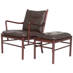 Ole Wanscher Colonial Lounge Chair and Ottoman
