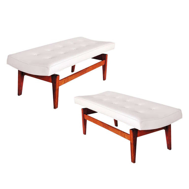 Pair of Jens Risom Floating Benches