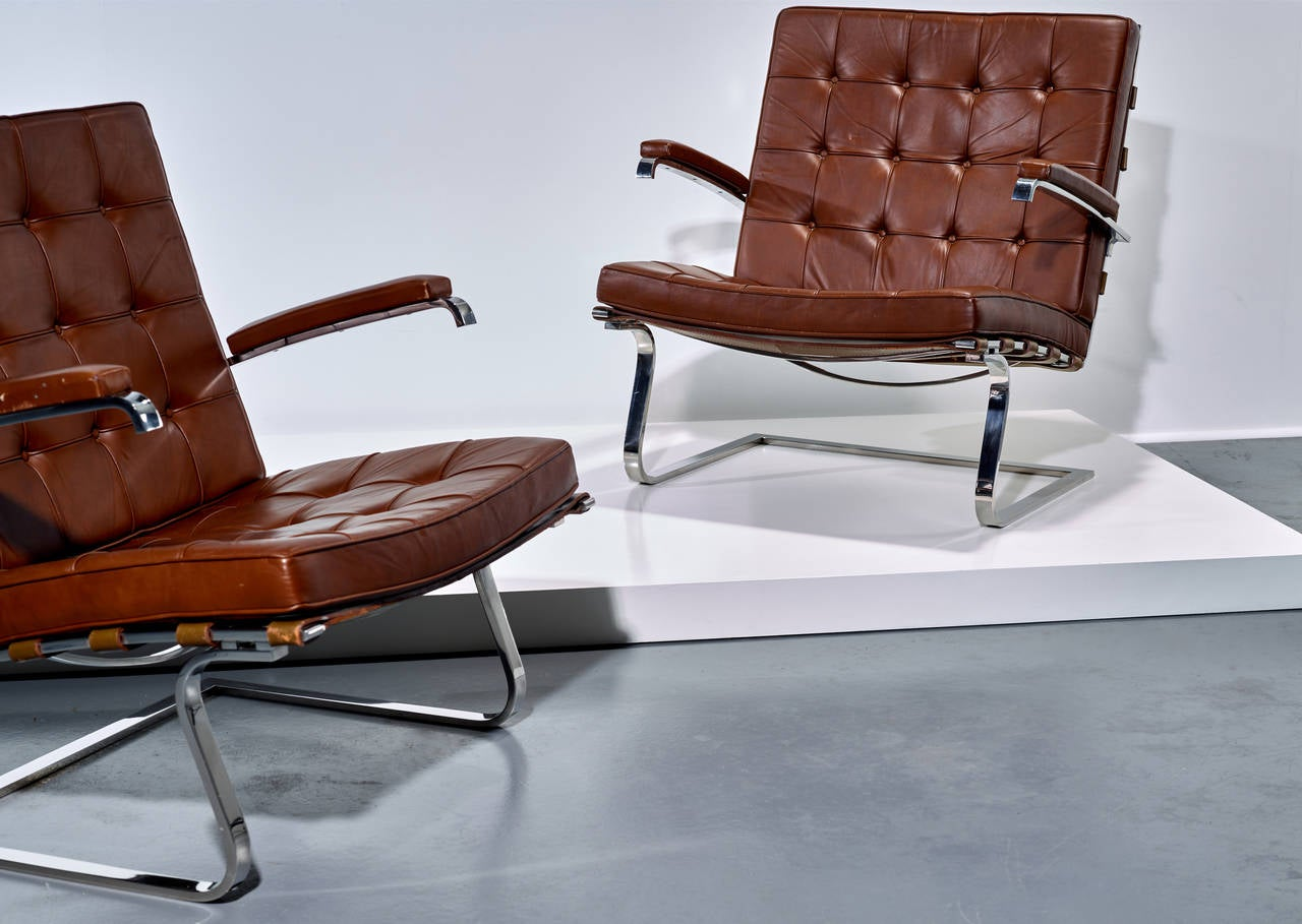 ludwig mies van der rohe tugendhat armchairs for knoll international at 1stdibs. Black Bedroom Furniture Sets. Home Design Ideas