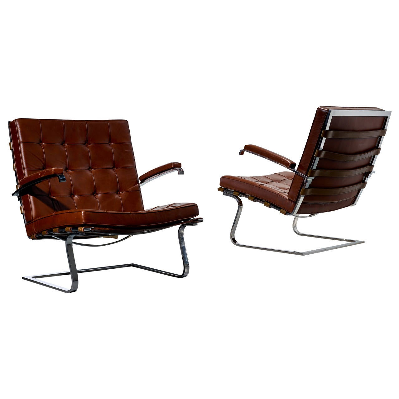 Ludwig Mies Van Der Rohe Tugendhat Armchairs For Knoll International