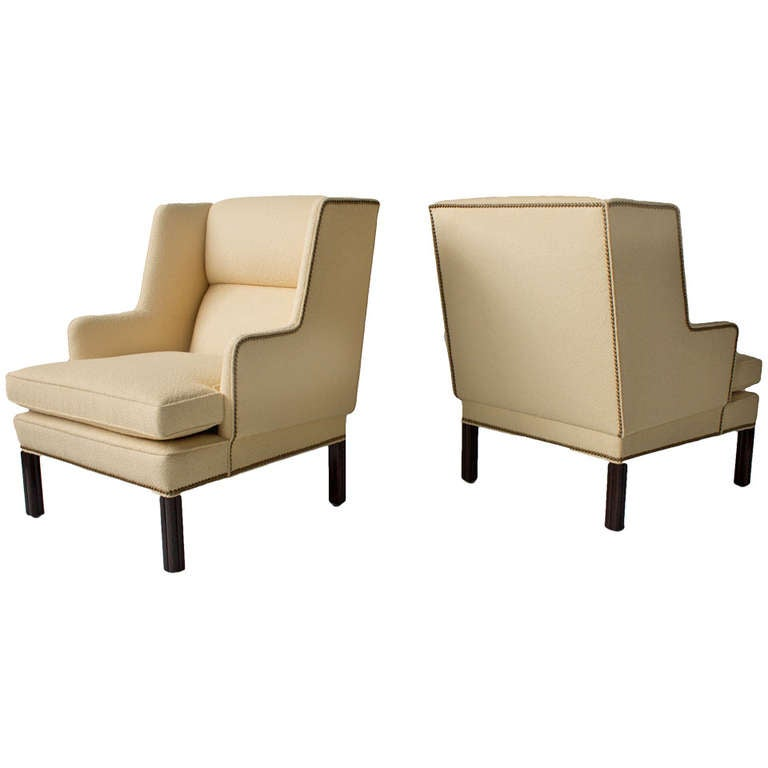 Pair of Edward Wormley for Dunbar Lounge Chairs, 1950s For Sale