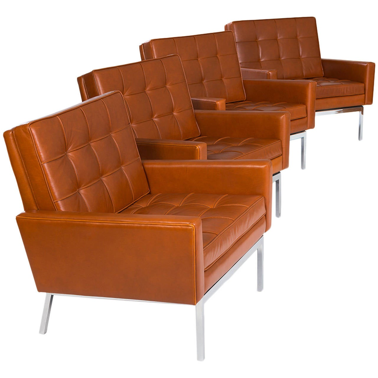 Florence Knoll Chairs, Set of Four Model 65A, 1960s For Sale