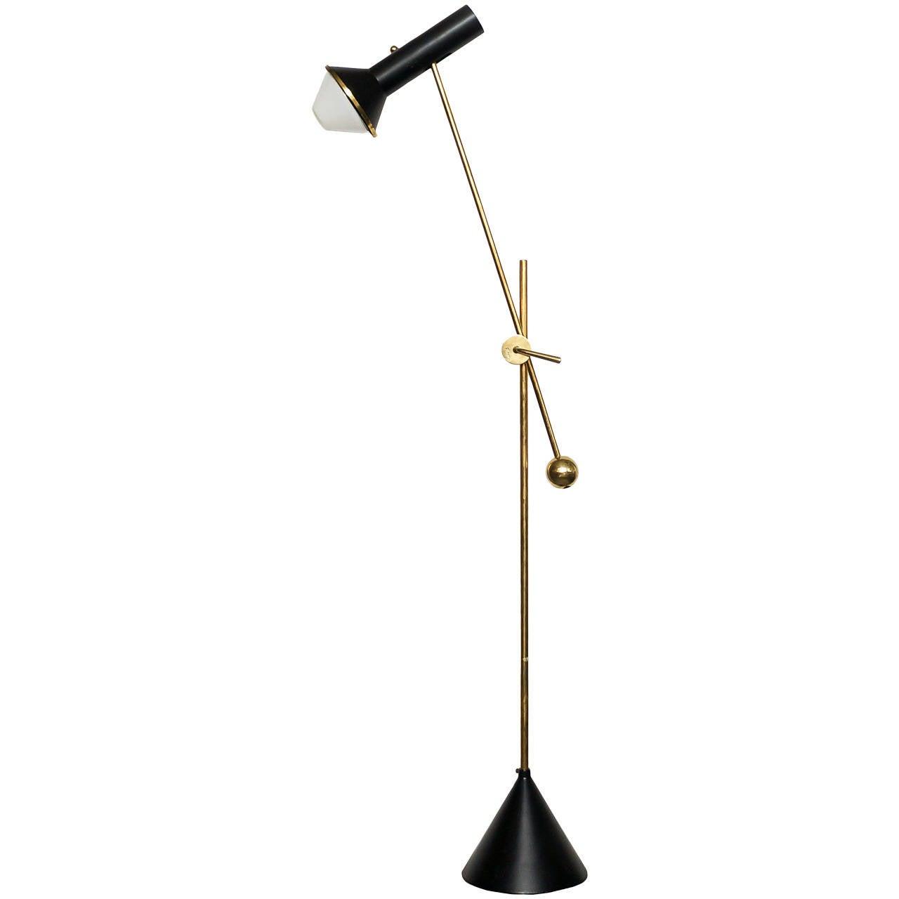 Tapio Wirkkala Adjustable Floor Lamp, 1950s