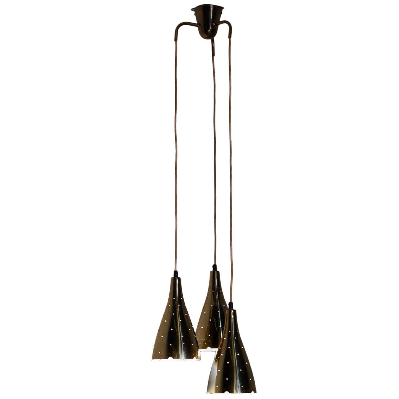 Paavo Tynell Pendant Lamp for Idman, Model 10130 / 3, 1950s