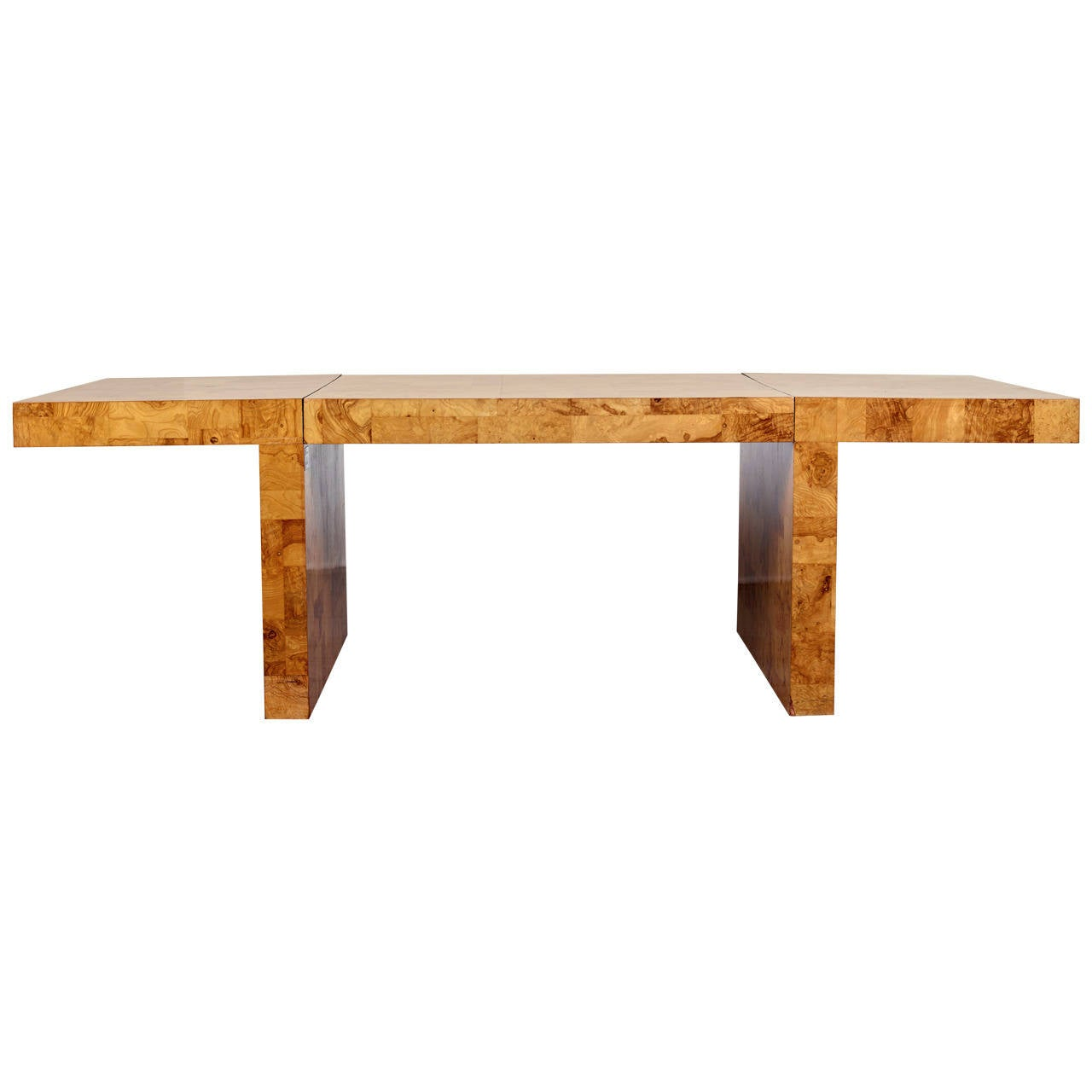 Paul Evans Dining Table for Directional, Olive Ash Burl, 1970s