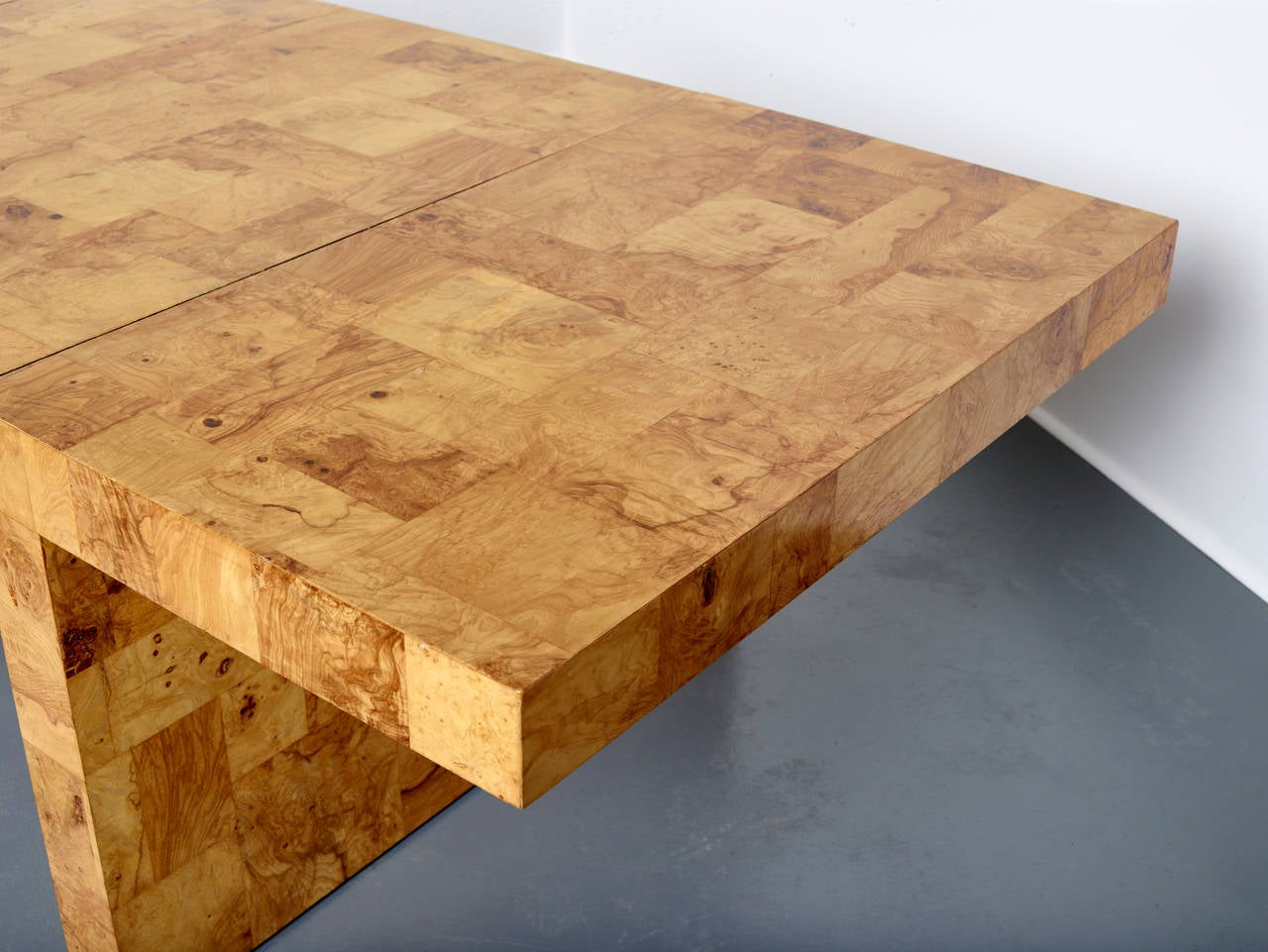 American Paul Evans Dining Table for Directional, Olive Ash Burl, 1970s For Sale