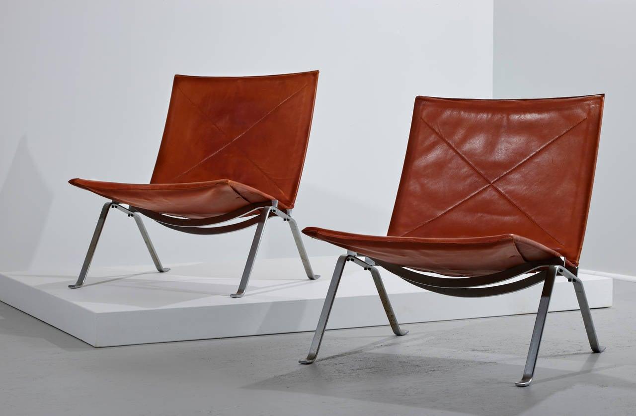 Poul Kjaerholm PK 22 Chairs for E. Kold Christensen, Original Condition 1956 3