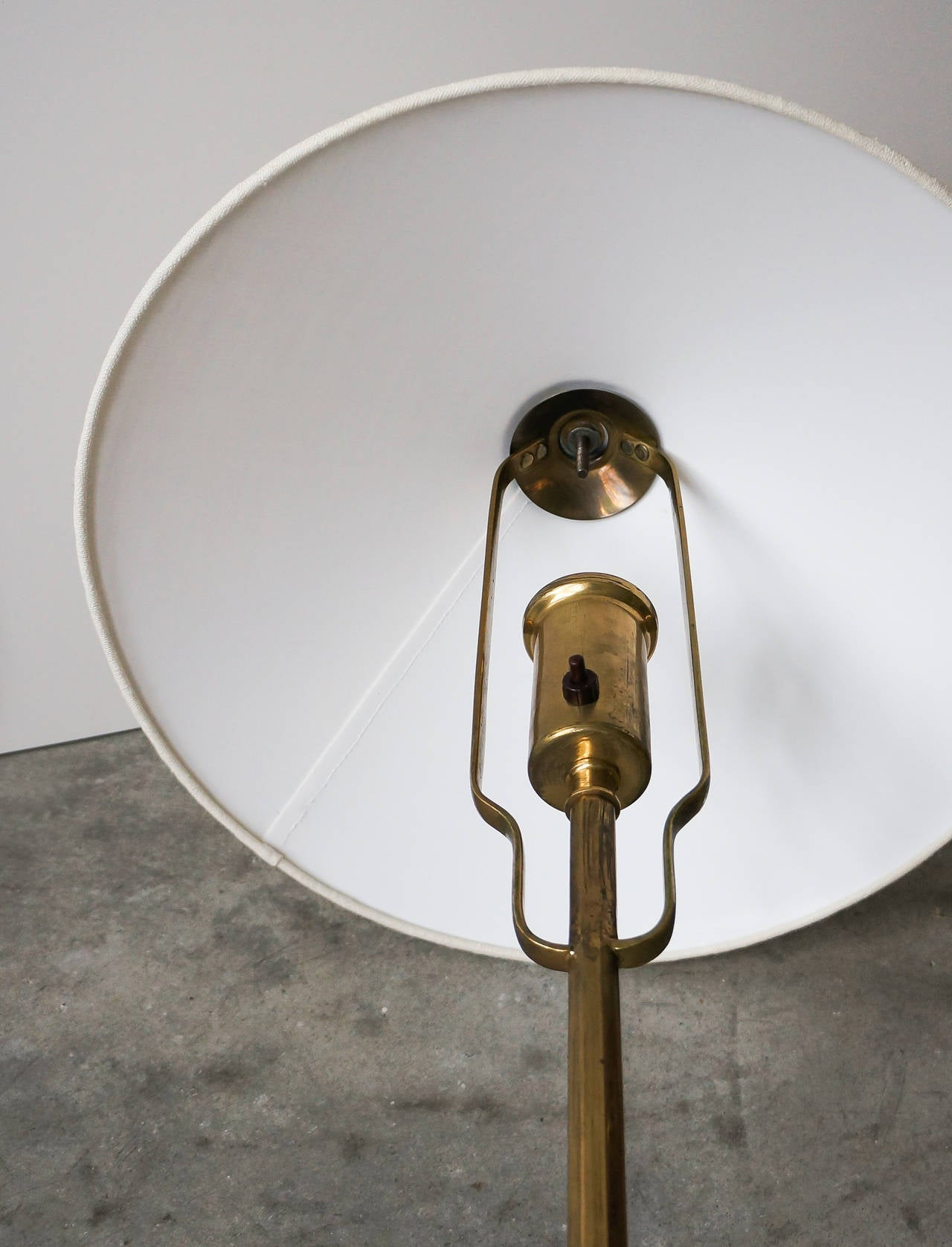 Mid-20th Century Paavo Tynell Floor Lamp, Model 5762 Manufactured by Taito Oy, Finland For Sale