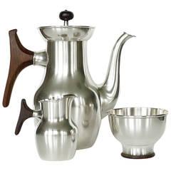 Tapio Wirkkala, Silver Coffee Tea Service, Handmade to Order by Kultakeskus Oy