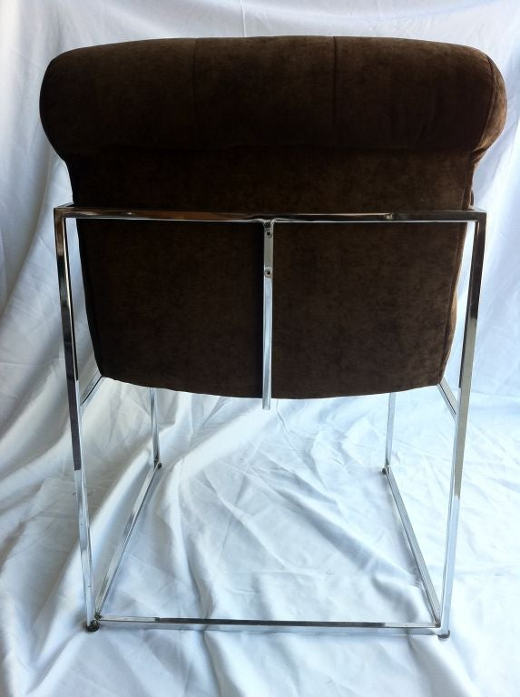 American Pair Of Milo Baughman Armchairs For Sale