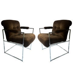 Pair Of Milo Baughman Armchairs