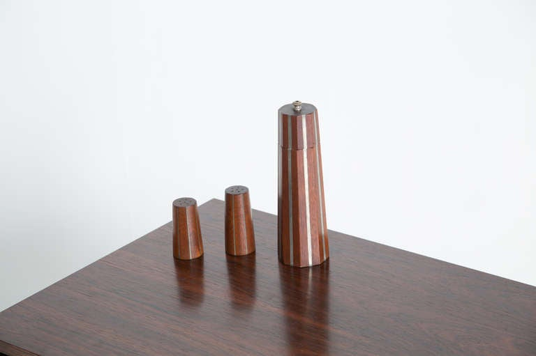 American Paul Evans and Phillip Lloyd Powell Pepper Mill and Shaker, 1957 For Sale