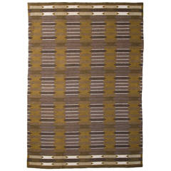 Vintage Swedish Flat-Weave Carpet