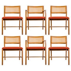 Set of Six Edward Wormley for Dunbar Dining Chairs