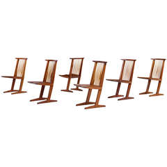 George Nakashima Conoid dining chairs