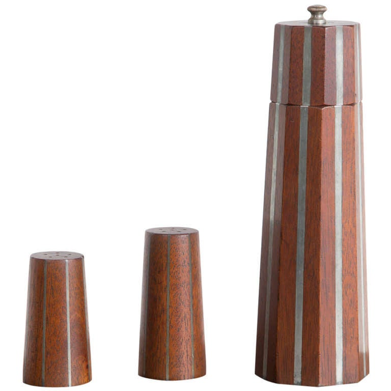 Paul Evans and Phillip Lloyd Powell Pepper Mill and Shaker, 1957