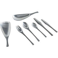 Jens Quistgaard Odin Flatware for Dansk, 59 Pieces