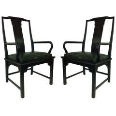 Fabulous pair of Chin Hua Asian Modern Armchairs