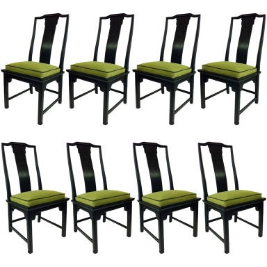 eight asian modern chin hua dining chairs at 1stdibs