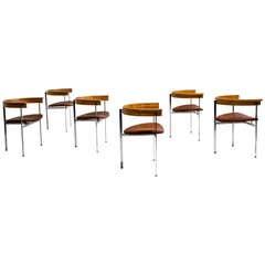 Six Poul Kjaerholm PK 11 Chairs, Original Condition, 1957