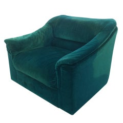 Luxurious Mohair Lounge Chair