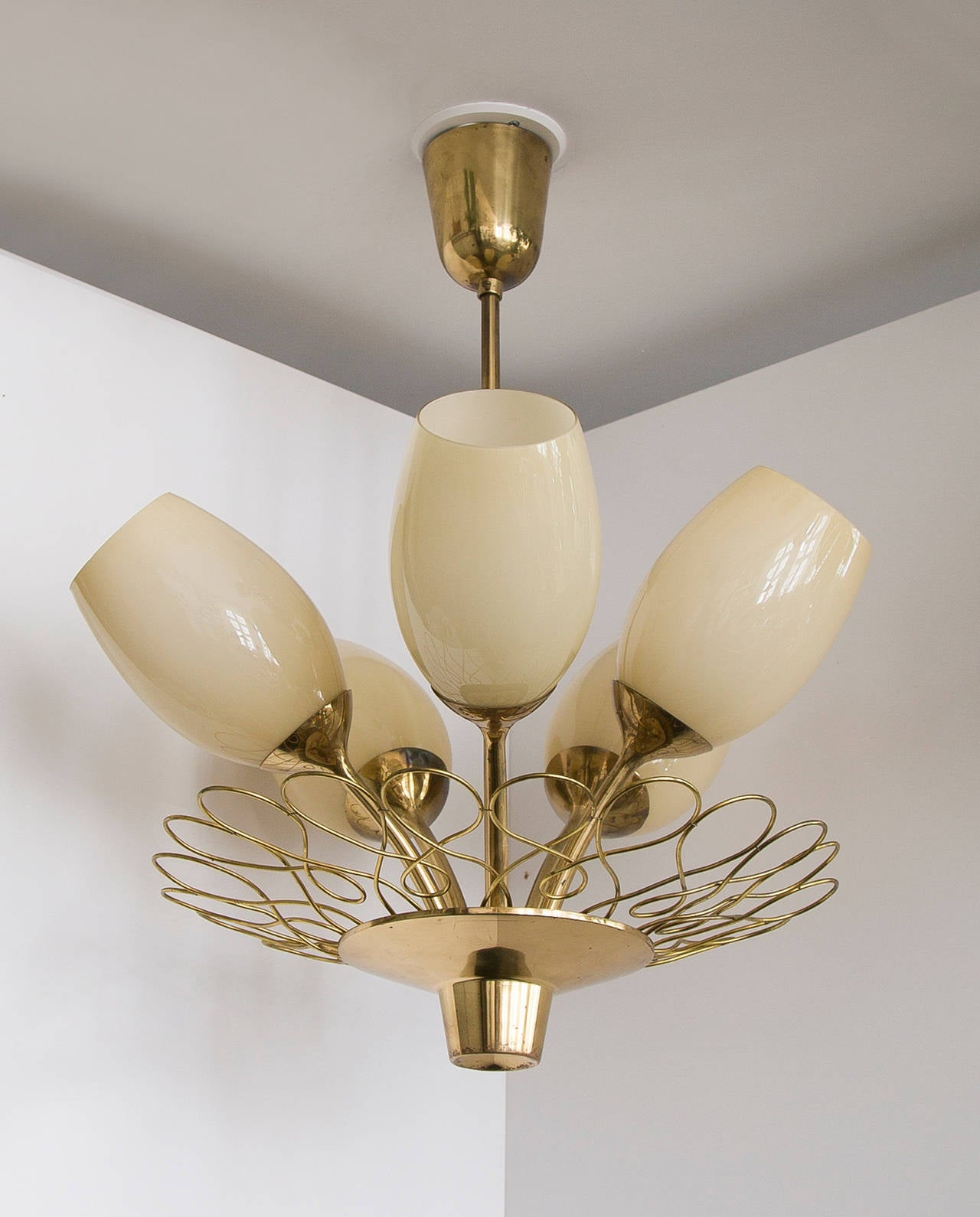 Scandinavian Modern Paavo Tynell Ceiling Lamp Taito Oy For Sale