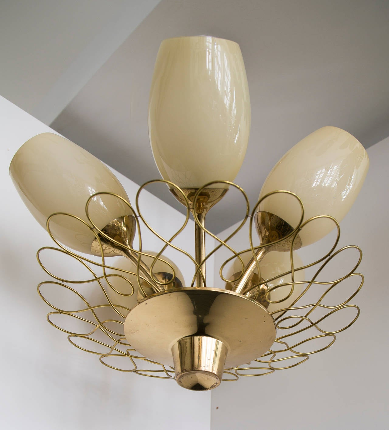 Paavo Tynell Ceiling Lamp Taito Oy In Good Condition For Sale In Houston, TX