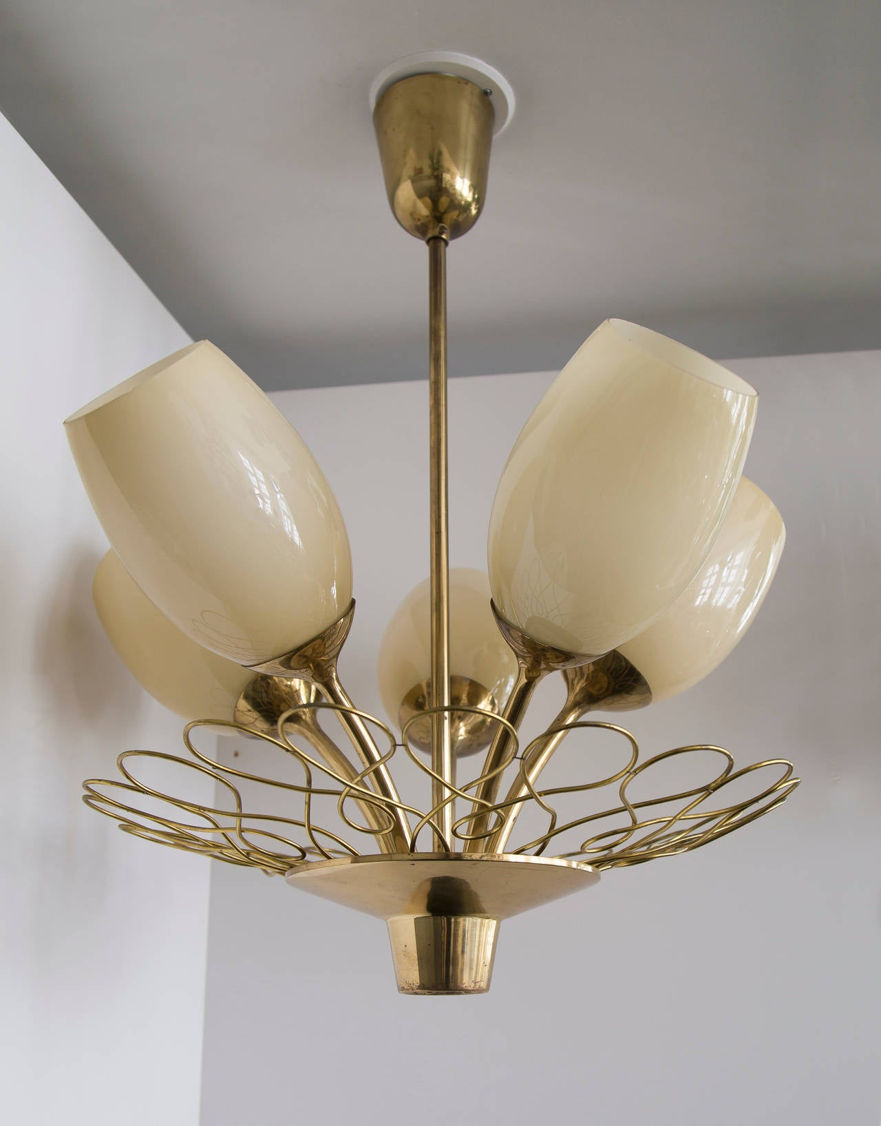 Mid-20th Century Paavo Tynell Ceiling Lamp Taito Oy For Sale
