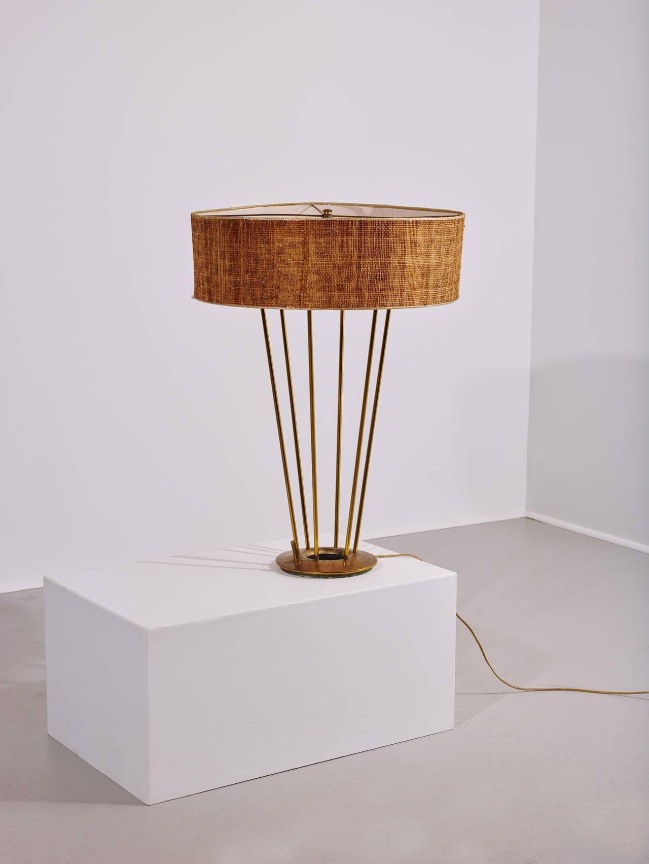 Stiffel lamp usa 1950s shade measures 22 5 in diameter makers mark
