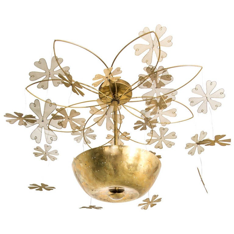Paavo Tynell Snowflake Chandelier, 1950s