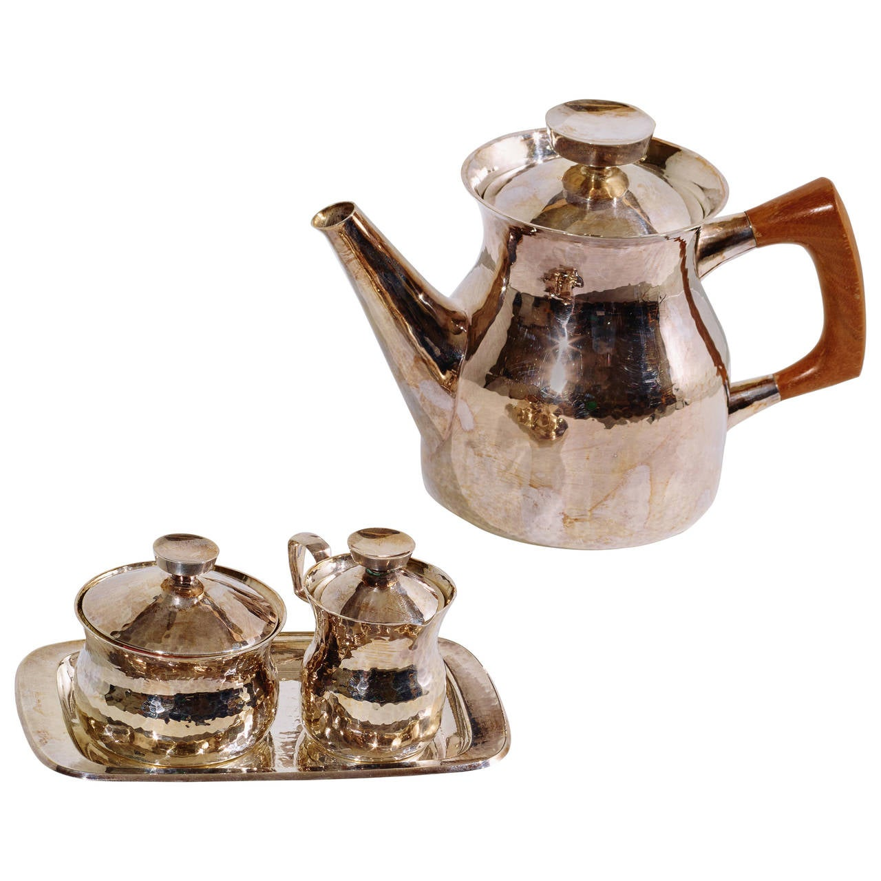 Eric Löfman Silver Coffee or Tea Service in Sterling Silver, 1960s