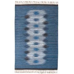 "Handmade Swedish Flat-Weave Carpet, Signed ""ML"""