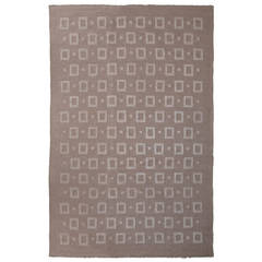 "Finnish Modernist 114"" Carpet or Rug, Handwoven"