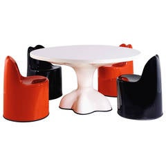 Wendell Castle Dining Set, Molar Group, Original Production, 1969