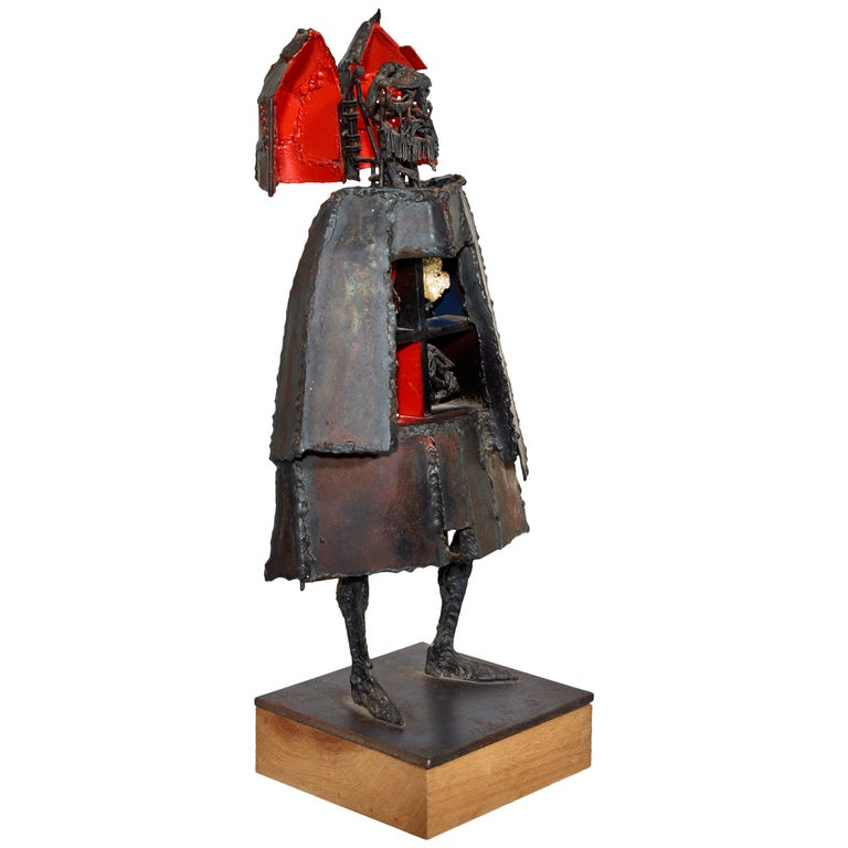 Bob Fowler Welded Sculpture, Signed, 1980s For Sale
