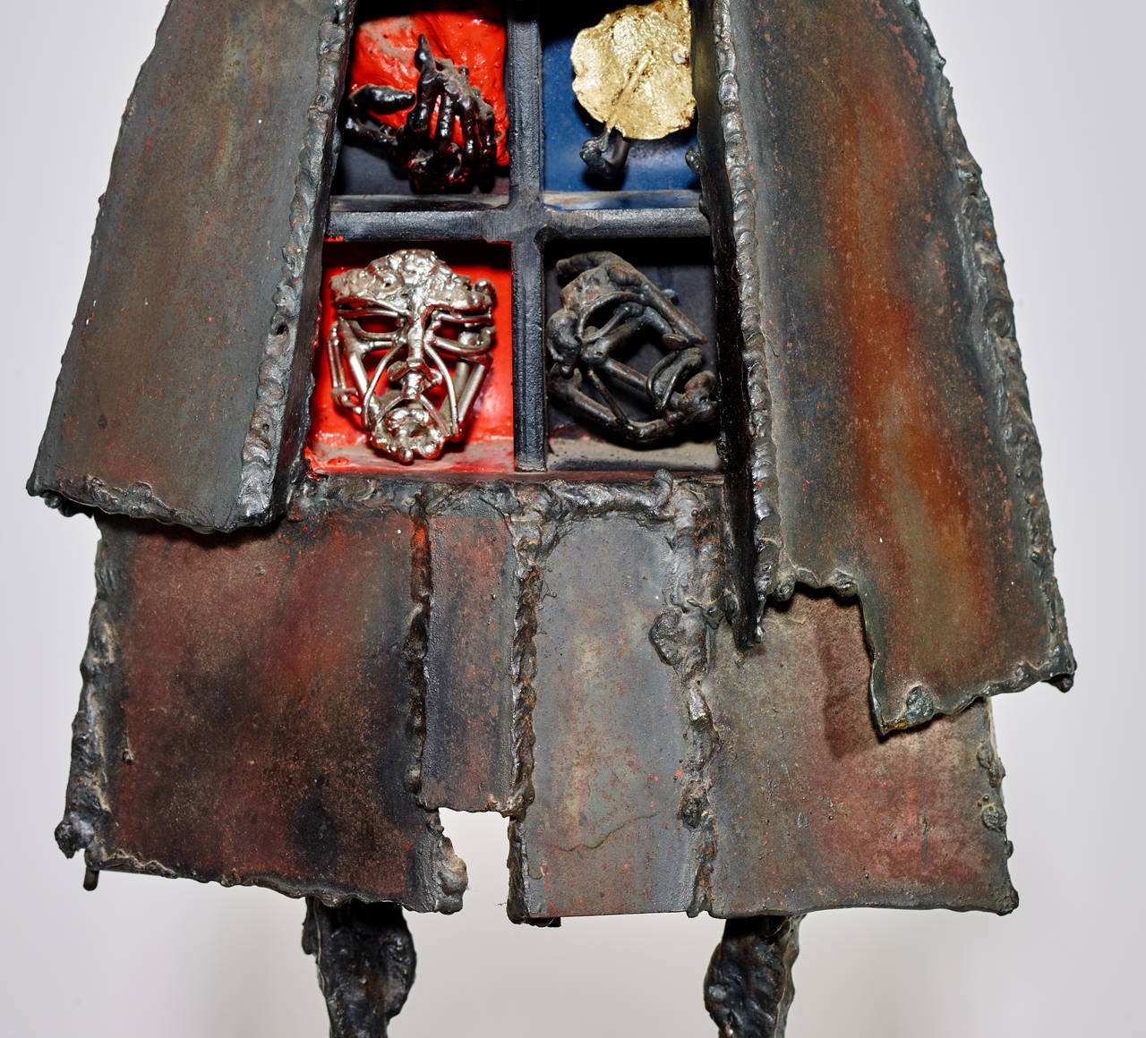 American Bob Fowler Welded Sculpture, Signed, 1980s For Sale