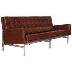 Florence Knoll Sofa, Model 2577 in Leather, 1955