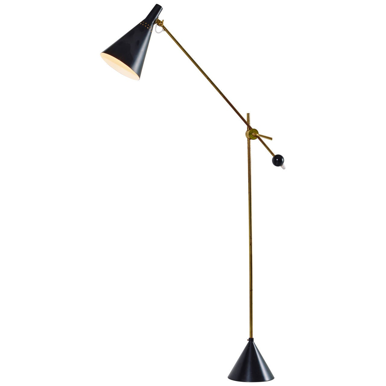 Tapio Wirkkala Floor Lamp, Model K10-11, 1958