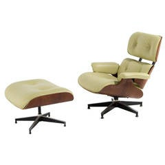 Charles and Ray Eames Rosewood Lounge Chair and Ottoman