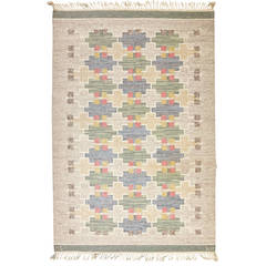 Maj Svanstrom Swedish Flat-Weave Carpet, 1950s