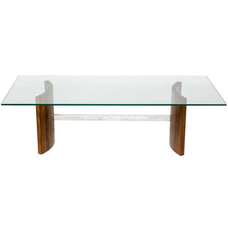 Vladimir Kagan For Selig Coffee Table And Side Table At