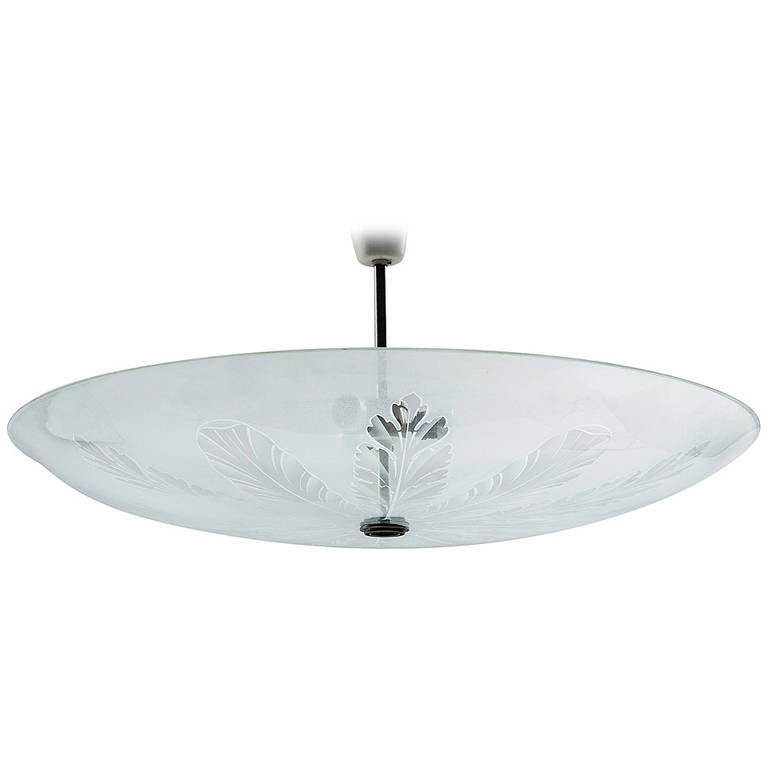 Fontana Arte Large Ceiling Fixture Attributed to Pietro Chiesa, 1935