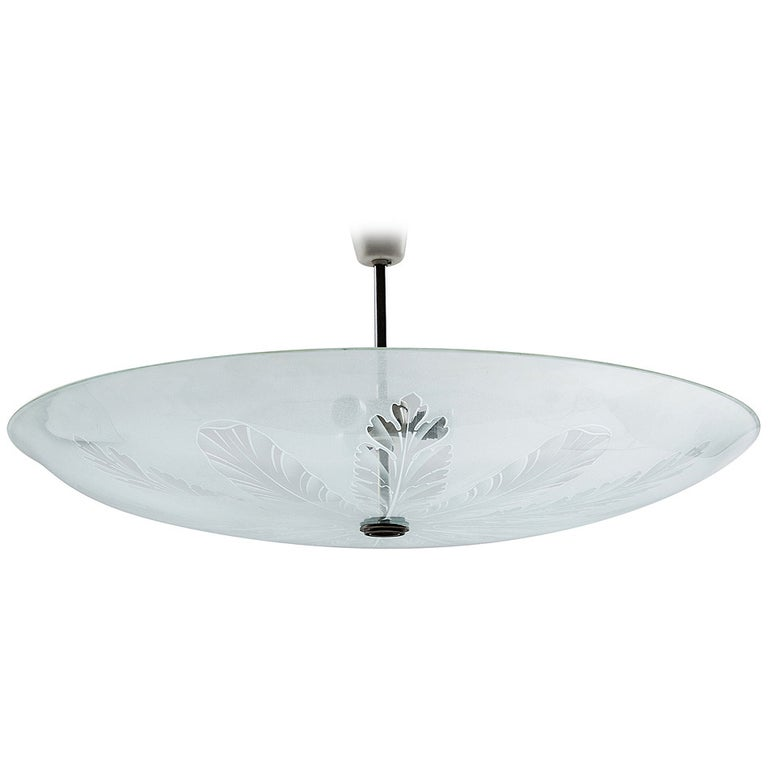 Fontana Arte Large Ceiling Fixture Attributed to Pietro Chiesa, 1935 For Sale