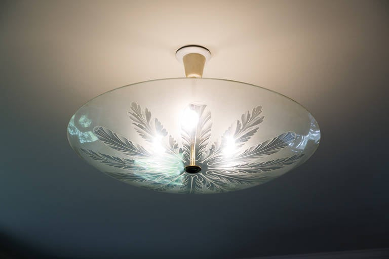 Fontana Arte Large Ceiling Fixture Attributed to Pietro Chiesa, 1935 For Sale 3