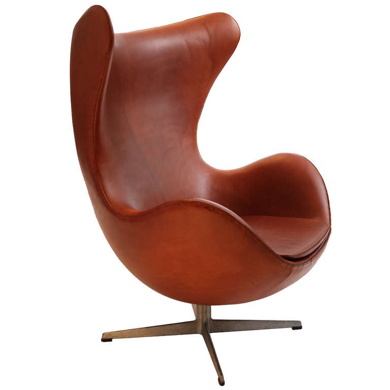 arne jacobsen egg chair fritz hansen at 1stdibs. Black Bedroom Furniture Sets. Home Design Ideas